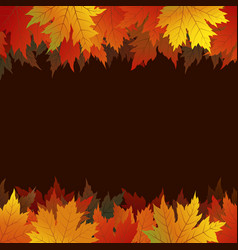 autumn maple leaves on brown background vector image