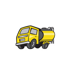 baby fuel tanker cartoon vector image