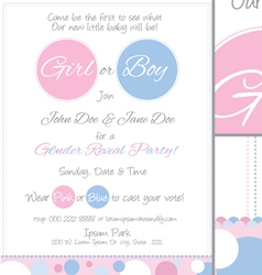 Baby Reveal Postcard Invitation vector