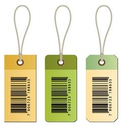 Barcode cardboard tags vector
