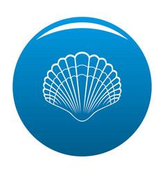 big shell icon blue vector image
