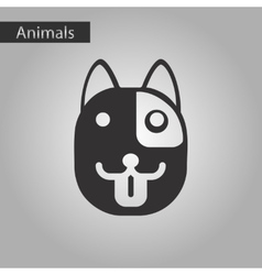 black and white style icon dog vector image