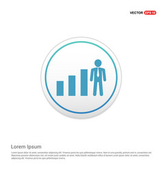 Business man with growing graph icon - white vector