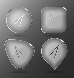 Caliper glass buttons vector