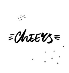 cheers christmas lettering vector image
