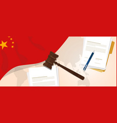 China law constitution legal judgment justice vector