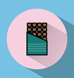 Chocolate Bar colorful round icon vector