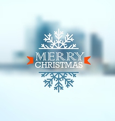 Christmas greeting card Christmas emblem vector image