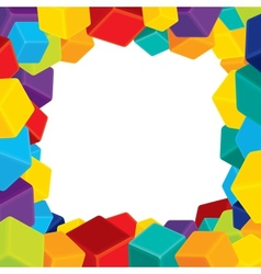 Colorful Border from Cubes vector