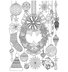 Coloring colouring page adult book black white vector