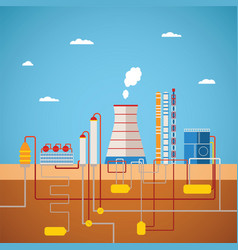 Concept of refinery plant for processing natural vector