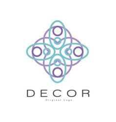 Decor original logo creative badge for company vector