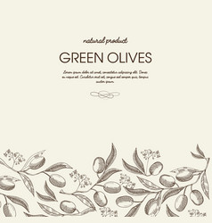 Decorative natural botanical sketch template vector