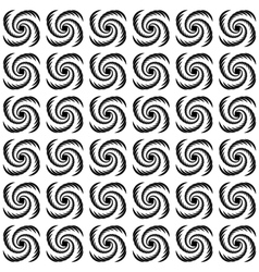 Design seamless uncolored wave pattern vector