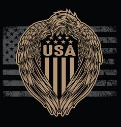 Eagle wing annimal flag usa america vintage vector