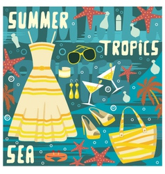 fashion set summer clothes vector image