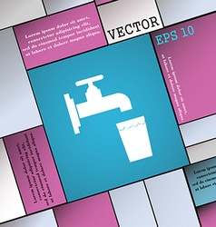 faucet glass water icon sign Modern flat style for vector image