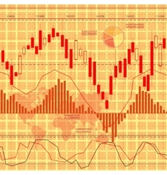 Finance background orange vector image