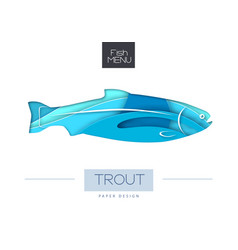 Fish trout silhouette vector