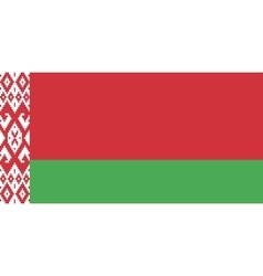 Flag of Belarus in correct proportions and colors vector