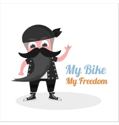 flat grandfather biker vector image