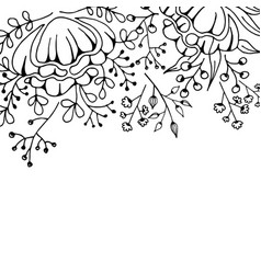flower background monochrome vector image