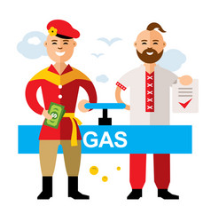 Gas pipeline russia - ukraine flat style vector