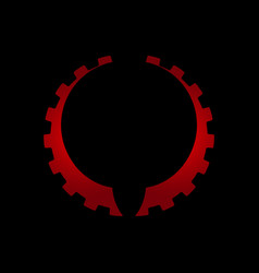 gear icon colored icon gear icon for design vector image
