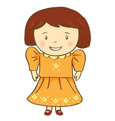 Girl Smile vector image