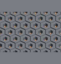 glow hollow hexagon abstract geometric seamless vector image
