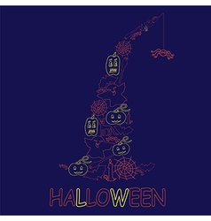 Halloween design vector image