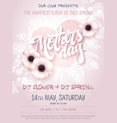 hand drawn mothers day event poster vector image