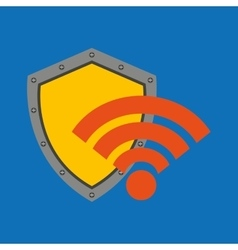 hand hold protected concept wifi vector image