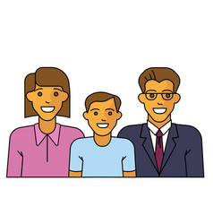 happy family smiling vector image