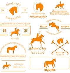 Horse label set vector