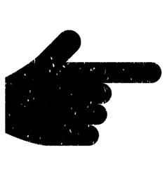 Index Finger Grainy Texture Icon vector