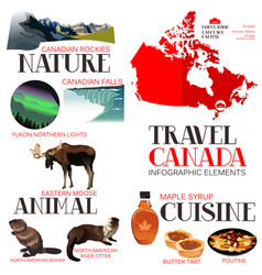 infographic elements for traveling to canada vector image