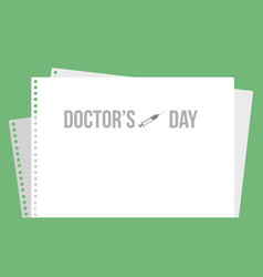 International doctor day card style vector