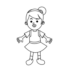Isolated girl cartoon design vector image