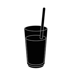 Juice in glass cup vector