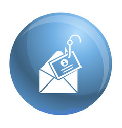 Mail phishing icon simple style vector