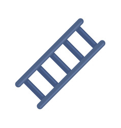 Metal ladder icon flat isolated vector