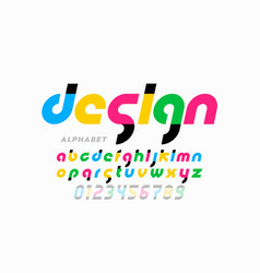 modern style lowercase font alphabet letters vector image