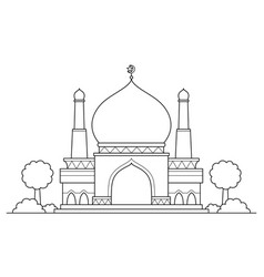 Mosque cartoon vector