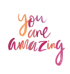Motivation poster You are amazing vector