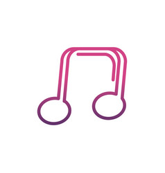 note music network social media icon line vector image