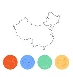 one line china design silhouette minimalism style vector image