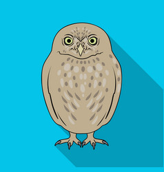 owlanimals single icon in flat style vector image