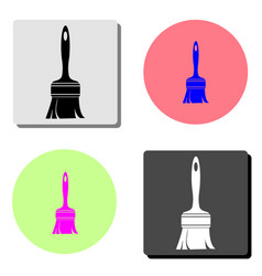 paint brush flat icon vector image