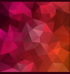 Polygonal square background hot pink orange vector